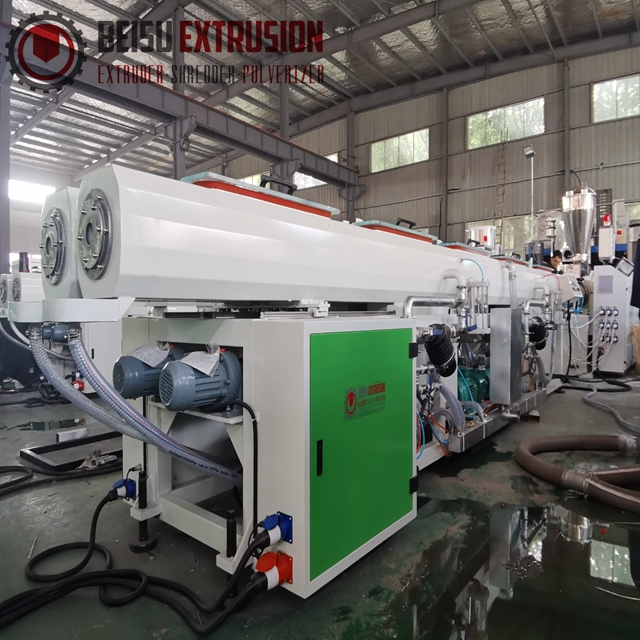 16mm-63mm Plastic HDPE/PE/PPR pipe extrusion machine line with double disc winder