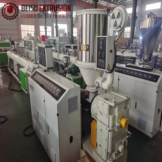 SJ-30/50/65/75/90/120 Plastic single screw extruder machine for PE/PPR/PP/PVC